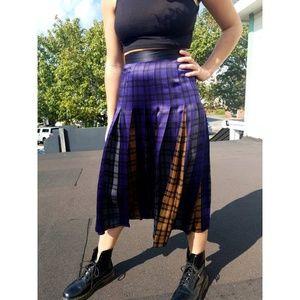 Vintage Escada Silk Plaid Skirt